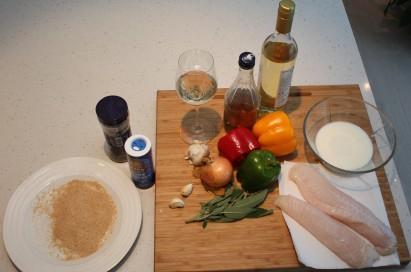 1 Ingrediensene til pesce in carpione