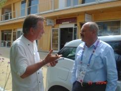 Jeg intervjuer sjefen for Eataly, Oscar Farinetti, under EXPO Milano 2015