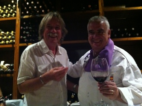 Med Paco (Francisco Martinez) på restaurant la Criolla i Valladolid