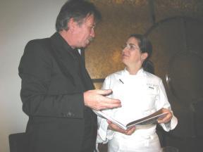 På restaurant Arzak i San Sebastian med chef Elena Arzak