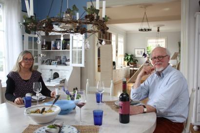 Det er lyst og åpent hjemme hos kunstnerekteparet Gun Skoglund Voss og Günter Voss