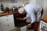 Sett inn i forvarmet ovn